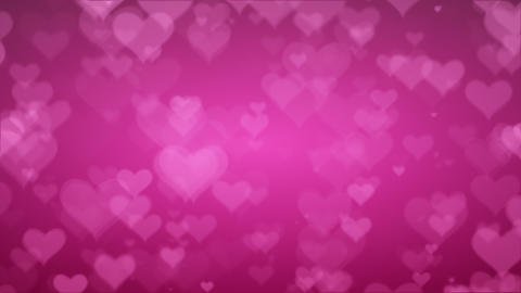 Soft Pink Background With Hearts. Valentines Day Concept Animation