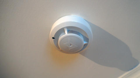 red flashing light bulb for smoke and fire detector Footage