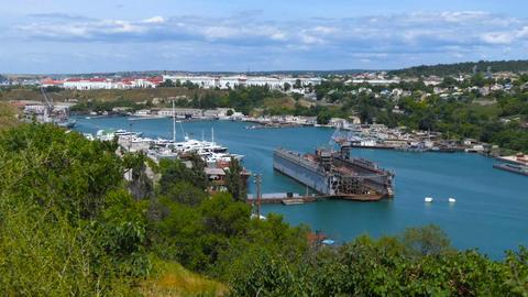 Sea port in the bay city 2 画像