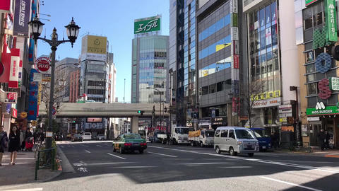 Timelapse of Tokyo city view with traffic in a sunny afternoon Footage