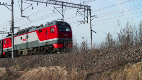 Passenger train Russian Railways Footage