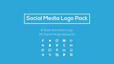 Social Media Logo Pack モーショングラフィックステンプレート