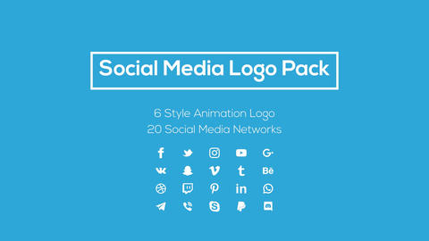 Social Media Logo Pack Motion Graphics Template