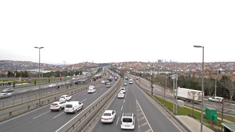 Istanbul - Turkey , halic bridge and traffic Footage