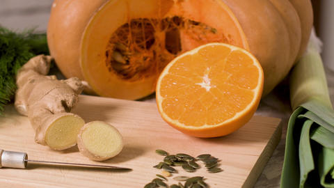 Homemade pumpkin soup 영상물