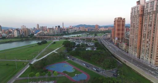 Taipei City Skyline Aerial 영상물