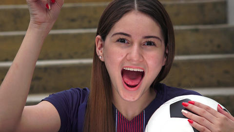 C0107 athletic teen female soccer player and ideas Live Action