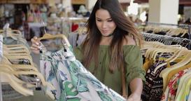 Elegant woman shopping alone Footage