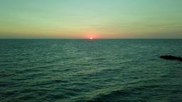 Landscape of sunrise in ocean Footage