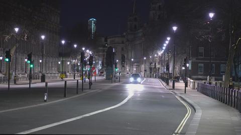 London Whitehall at night - LONDON,ENGLAND FEBRUARY 20, 2016 Footage