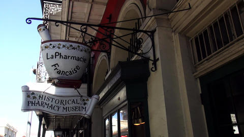 La Pharmacie Francaise Pharmacy Museum – NEW ORLEANS, LOUISIANA/USA OCTOBER 29 stock footage