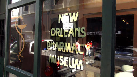 New Orleans Pharmacy museum – NEW ORLEANS, LOUISIANA/USA OCTOBER 29, 2013 Footage