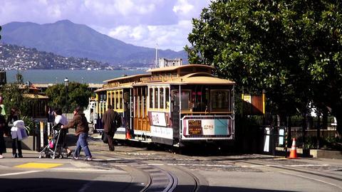 Cable Car in San Francisco SFO - SAN FRANCISCO, CALIFORNIA NOVEMBER 4,2012 Footage