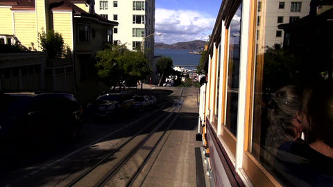 Famous San Francisco cable car - SAN FRANCISCO, CALIFORNIA NOVEMBER 4,2012 Footage