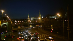 Congestion At The Crossroads In The Night Moscow stock footage