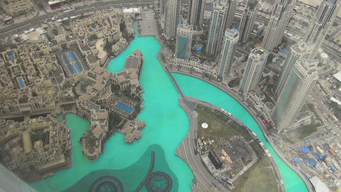 Aerial view of Downtown Dubai Footage