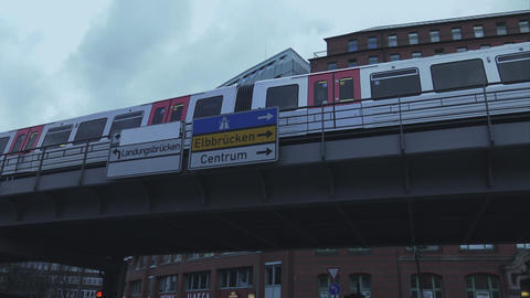 Tramway in the city of Hamburg - HAMBURG, GERMANY DECEMBER 23, 2015 Footage