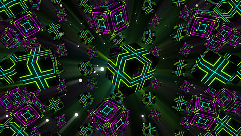 Neon Cubes VJ Loop 1 Animation