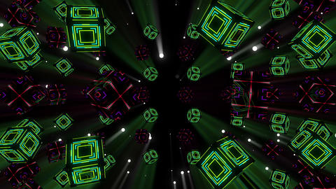 Neon Cubes VJ Loop 2 Animation