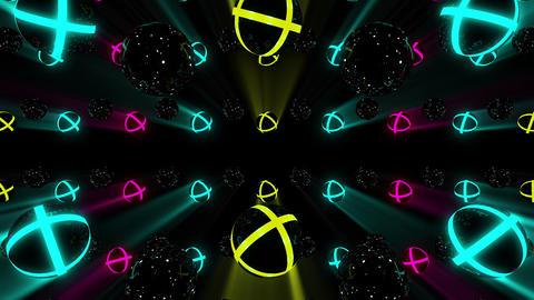 Neon Spheres VJ Loop Animation