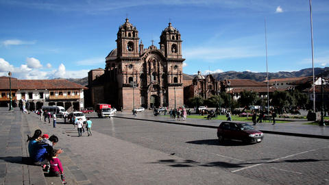 Activity in Cuzco, Peru Footage