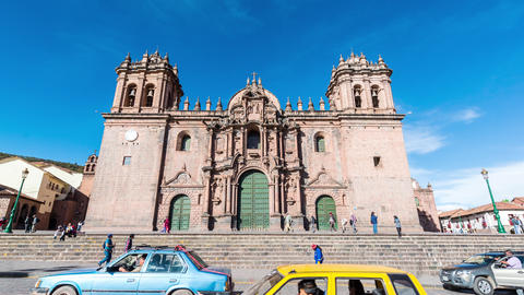 Cuzco Cathedral Time Lapse Footage