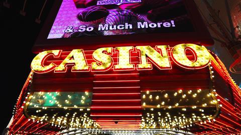 Las Vegas casino in downtown - LAS VEGAS, NEVADA/USA Live Action