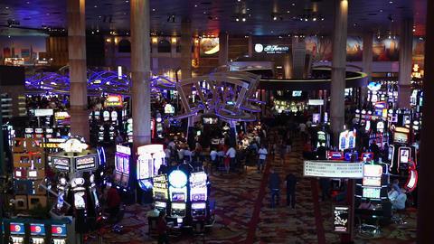 Las Vegas casino with slot machines - LAS VEGAS, NEVADA/USA Live Action