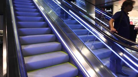 Escalators are constantly run Footage