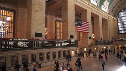 Nice views on Grand Central lobby Manhattan - MANHATTAN, NEW YORK/USA APRIL 25,  Live Action