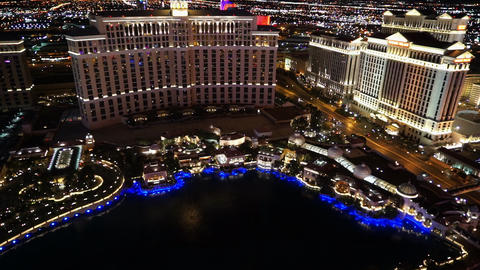 The Beautiful Beautiful Lake in front of the Bellagio... Stock Video Footage