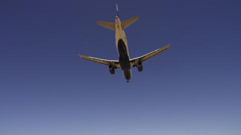 Aircraft on approach for landing at McCarran Airport Las Vegas - LAS VEGAS, NEVA Footage