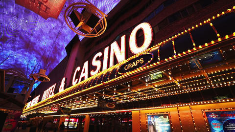 Casino sign in Las Vegas - LAS VEGAS, NEVADA/USA Live Action