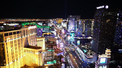 Wonderful Las Vegas Strip at night - LAS VEGAS, NEVADA/USA Footage