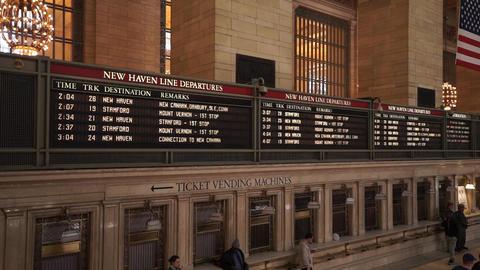 Departure boards at Grand Central station Manhattan - MANHATTAN, NEW YORK/USA AP Live Action