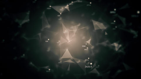 Abstract geometric composition from chaotic slow moving dots and lines 4K Animation