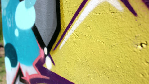 Old and New Graffiti close Up 영상물