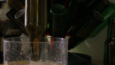 Homebrewing, clean bottles Footage