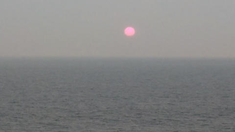 winter sunset over Arabian sea Footage