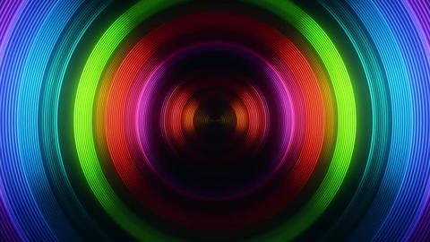 Colorful Round Circular Waves Tunnel VJ Loop Motion Background V2 Animación