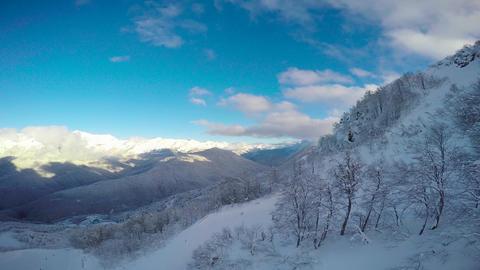 "Caucasian mountains. Ski resort ""Rosa Khutor"". Sochi. Russia Footage"