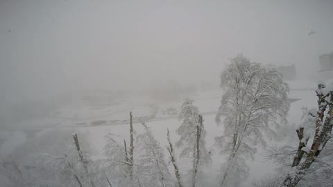 "Caucasian mountains. Snowfall. Ski resort ""Rosa Khutor"". Sochi. Russia Footage"