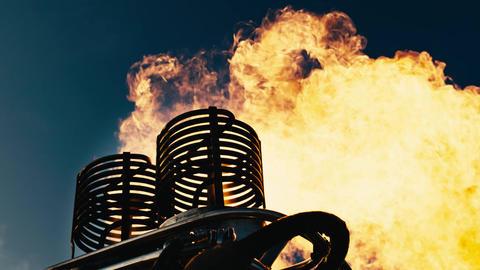 Hot air balloon. Fire bursts 영상물