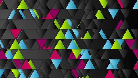 Bright triangles geometric tech abstract video animation Animation