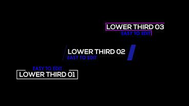 Lower third 01-03 モーショングラフィックステンプレート