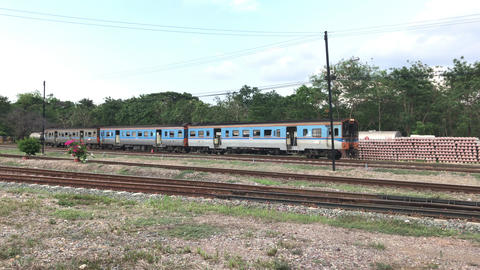 Passenger Train at Chiangmai Railway Station, End of North routh railway of Live Action