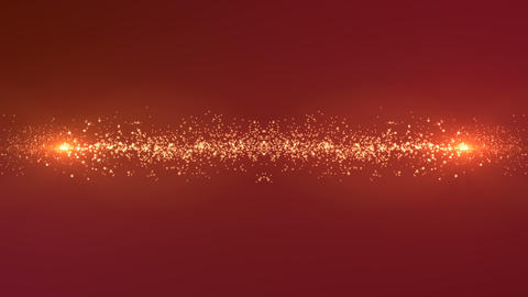 Gilded particles crossing at the center CG動画