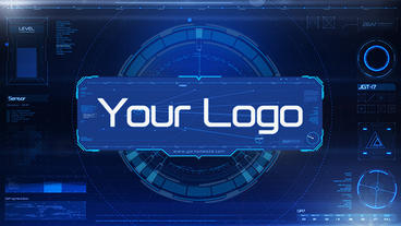 Sci-Fi HUD Logo Hi-Tech After Effects Template
