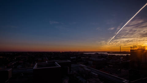 Time Lapse - Sunrise Dawn in New Orleans, Louisiana Footage