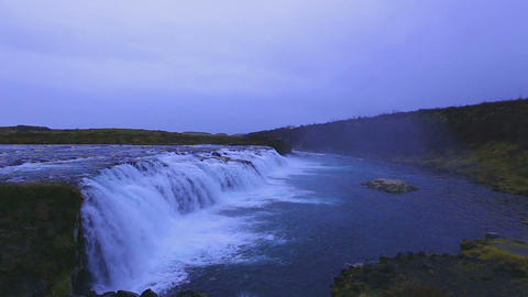Footage - Beautiful waterfall in Iceland Footage